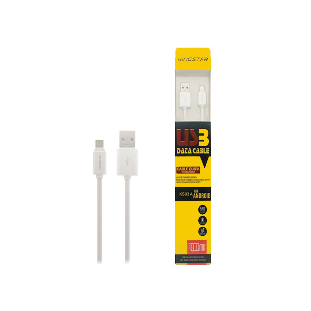 کابل تبدیل USB به microUSB کینگ استار مدل KS03A