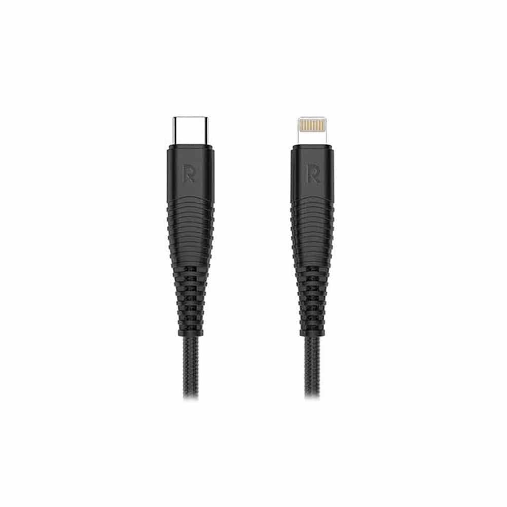 کابل تبدیل USB-C به لایتنینگ راوپاور مدل RP-CB020 طول 1 متر