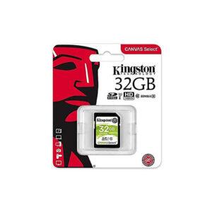 کارت حافظه کینگستون مدل SDHC Select 80R C10 با ظرفیت ۳۲ گیگابایت