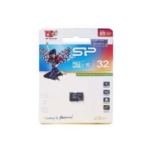 کارت حافظه microSDHC سیلیکون پاور مدل Elite کلاس ۱۰ استاندارد UHS-I U1 سرعت ۸۵MBps ظرفیت ۳۲ گیگابایت