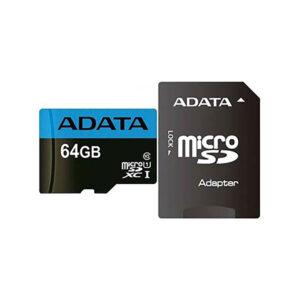 کارت حافظه microSDXC ای دیتا مدل Premier V10 A1 کلاس 10 استاندارد UHS-I سرعت 100MBps ظرفیت 64 گیگابایت