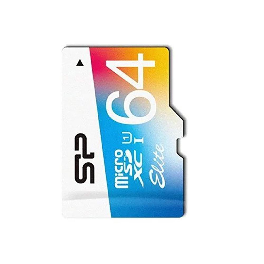 کارت حافظه microSDXC سیلیکون پاور مدل Color Elite کلاس ۱۰ استاندارد UHS-I U1 سرعت ۸۵MBps ظرفیت ۶۴ گیگابایت